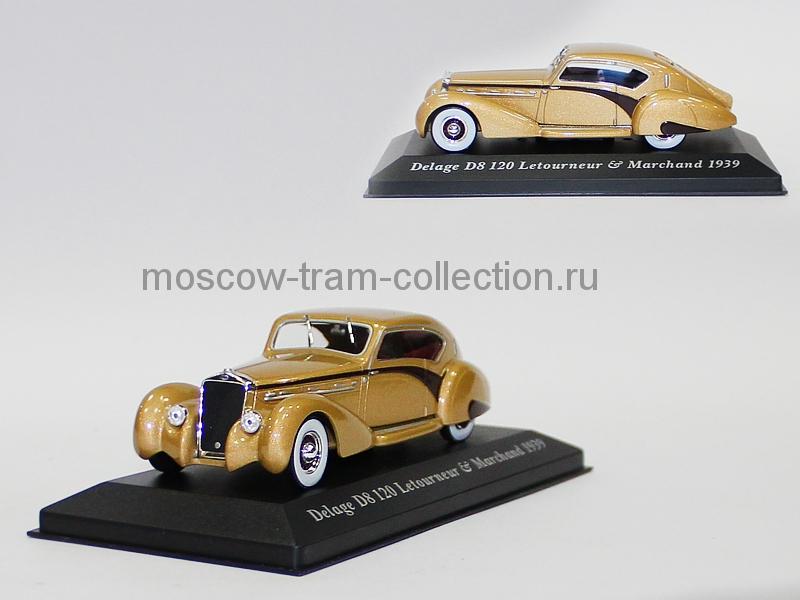 Масштабная коллекционная модель Delage D8 120 Letourneur & Marchand 1939
