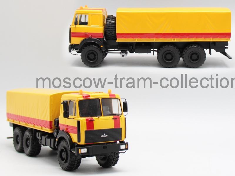 Коллекционная масштабная модель 1:43 Маз 6317 аварийный