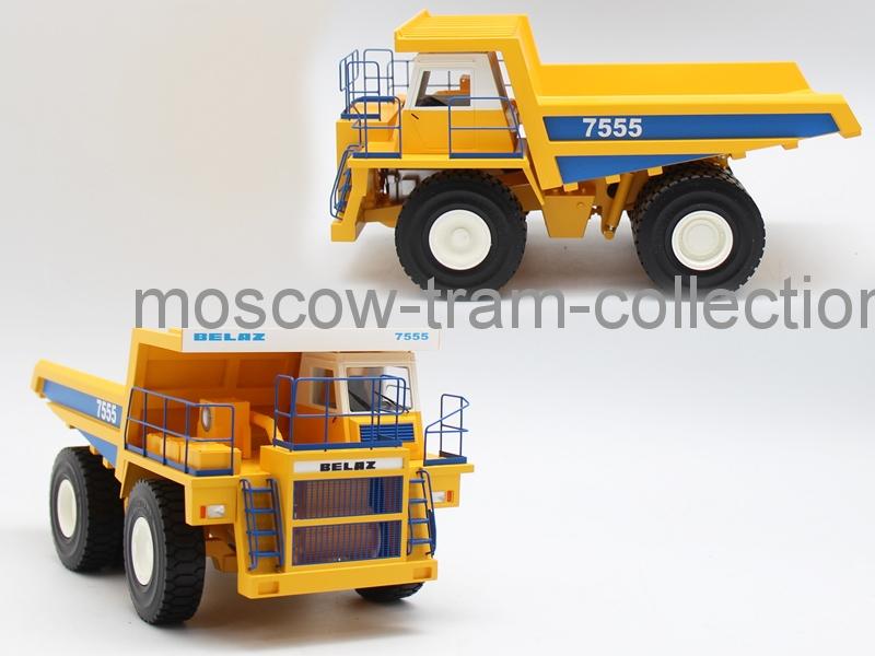 Коллекционная масштабная модель 1:43 Белаз 7555