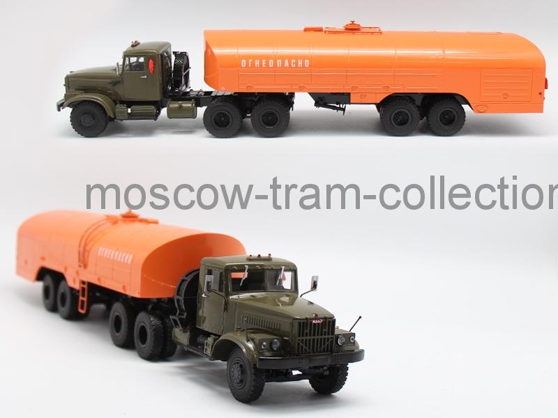 Коллекционная масштабная модель 1:43 КрАЗ-258Б1 ТЗ-22 (хаки-оранжевый)