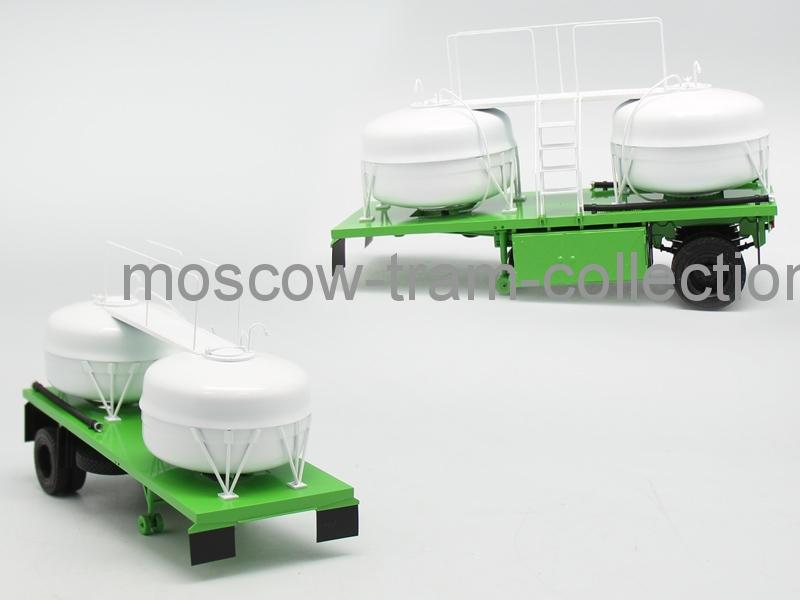 Коллекционная масштабная модель 1:43 ГКБ-9653-01 зеленая