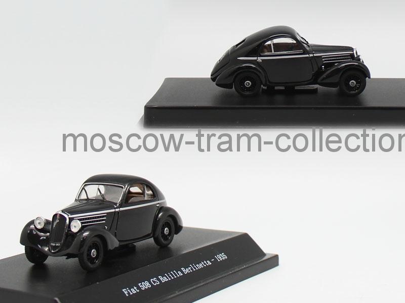Коллекционная масштабная модель 1:43 Fiat 508 CS Balilla Berlinetta 1935
