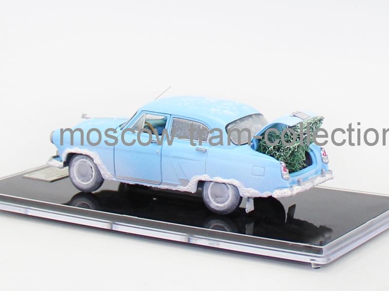 Масштабная модель ГАЗ М-21И голубая Новый год от V43