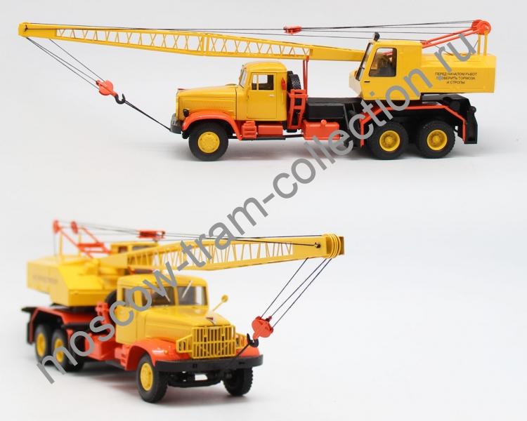 Коллекционная масштабная модель 1:43 Автокран Краз 219 КС 4562