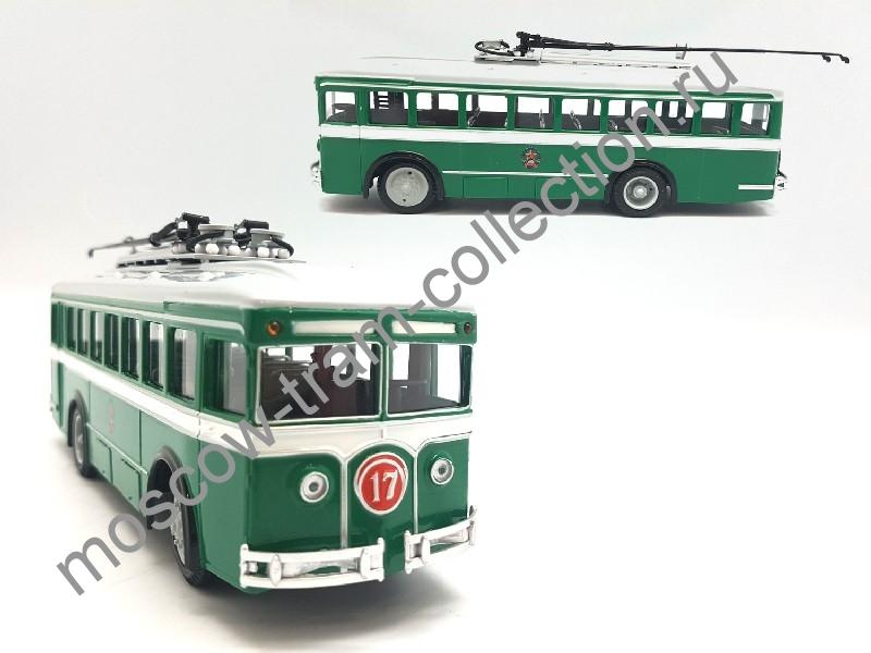 Коллекционная масштабная модель 1:43 Троллейбус ЛК-2