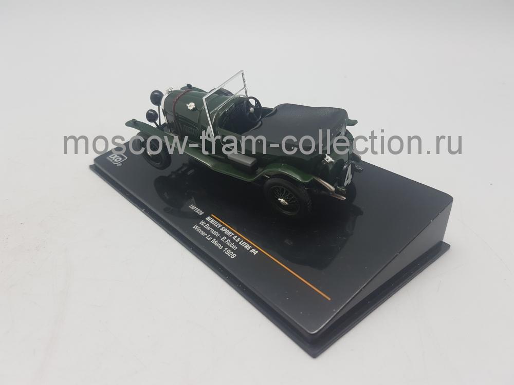 Коллекционная масштабная модель 1:43 Bentley Speed Six #4 Winner Le Mans1930 W. Barnato - G. Kidston