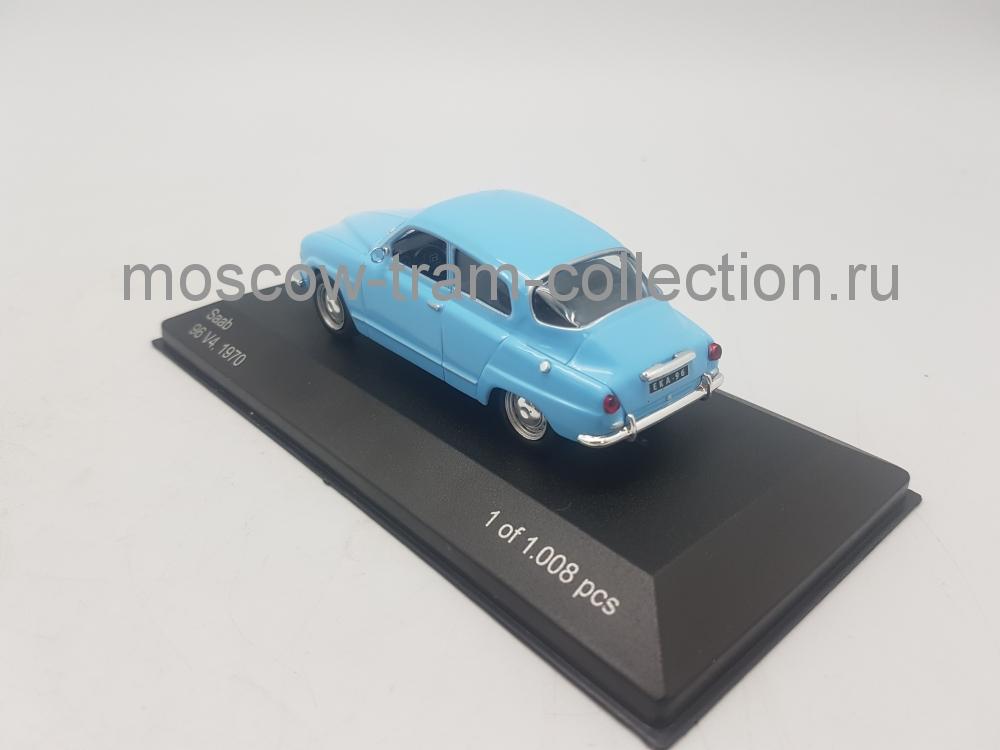 Коллекционная масштабная модель 1:43 Saab 96 V4, 1970 light blue