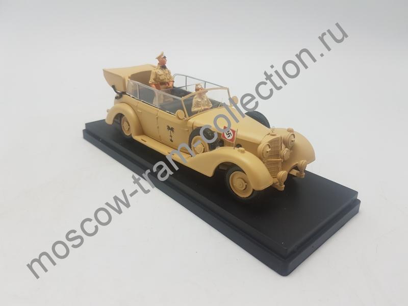Коллекционная масштабная модель 1:43 Mercedes-Benz 770K Africa Korps (Rommel + driver)