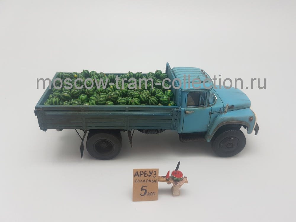 Коллекционная масштабная модель 1:43 Зил 130 полный кузов арбузов