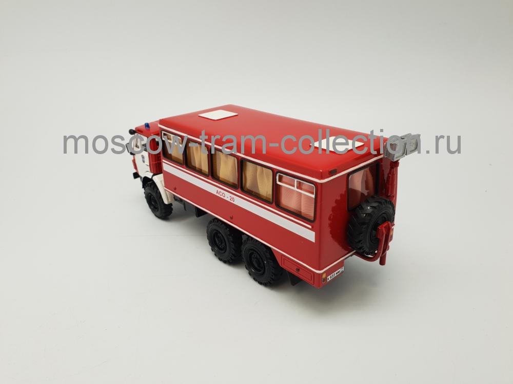 Коллекционная масштабная модель 1:43 АСО-20 Автомобиль связи и освещения (на базе КАМАЗ-4208 6х6 г. Москва)