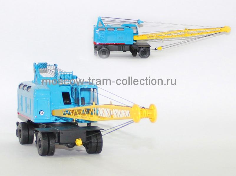 Масштабная коллекционная модель Автокран К - 161, голубой