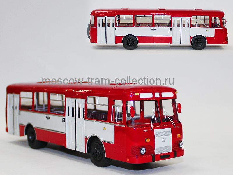 Масштабная коллекционная модель ЛиАЗ 677 МБ пригородный