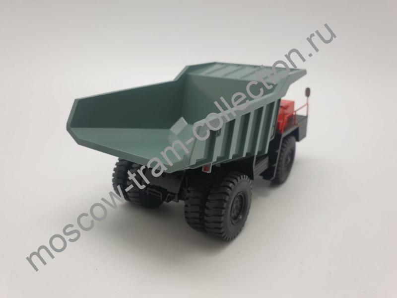 Коллекционная масштабная модель 1:43 БЕЛАЗ-540 карьерный самосвал, оранжевый/зелёный