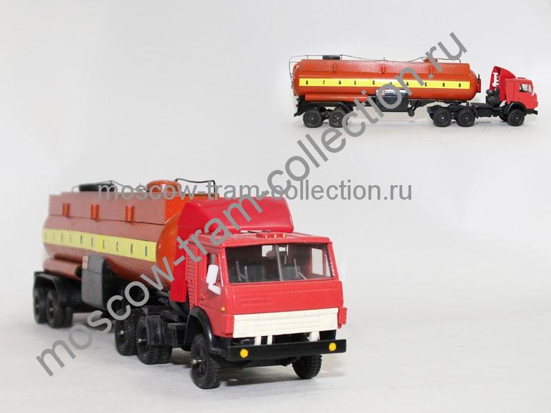 Коллекционные масштабные модели Камаз + п/п цистерна