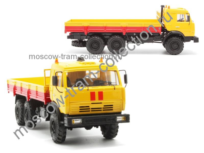 Коллекционные масштабные модели КамАЗ 43118 без тента аварийный