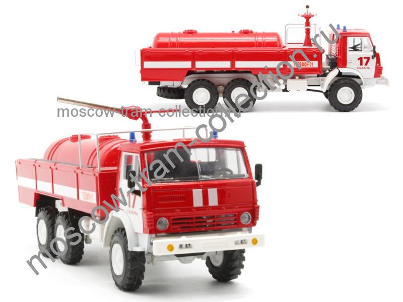 Коллекционные масштабные модели КамАЗ 43118 АП пожаротушение