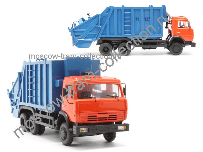 Коллекционные масштабные модели КамАЗ 53229 КО-427 мусоровоз 18 куб кабина евро 2