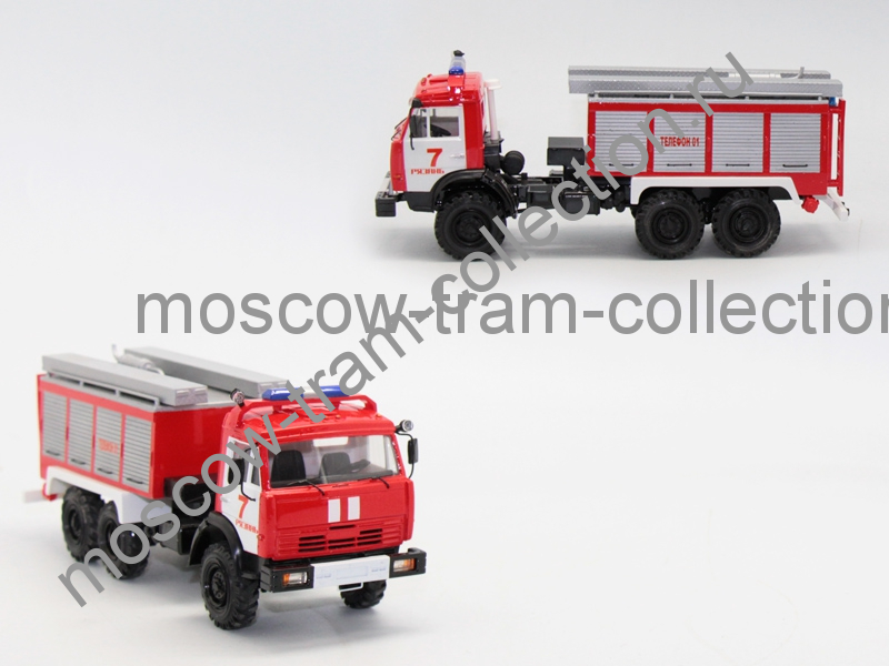 Коллекционная масштабная модель 1:43 Камаз 43114 ПНС 110 Евро 2