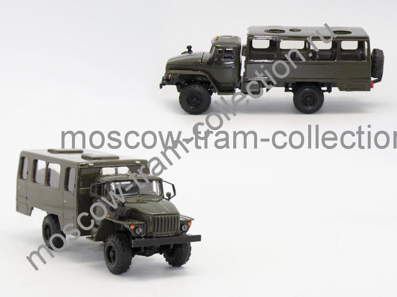 Коллекционная масштабная модель 1:43 Урал 43206 вахта хаки