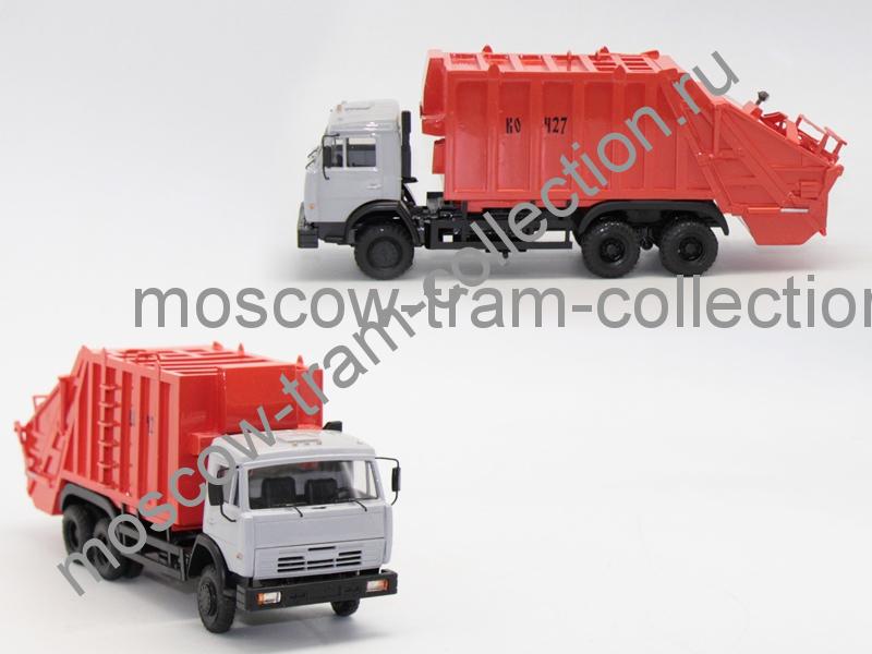 Коллекционная масштабная модель 1:43 Камаз 53229 КО-427 18 куб.