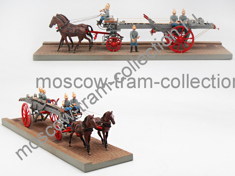 Коллекционная масштабная модель 1:43 Механическая лестница на конном ходу