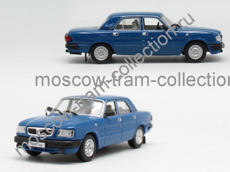 Коллекционная масштабная модель 1:43 Горький 3110 Волга, синяя