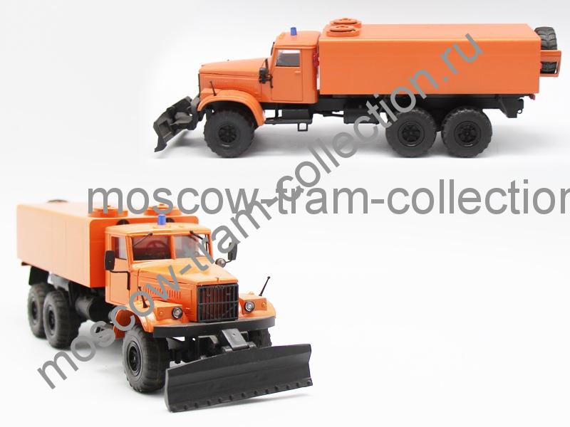Коллекционная масштабная модель 1:43 Краз 255 Снегоуборочный