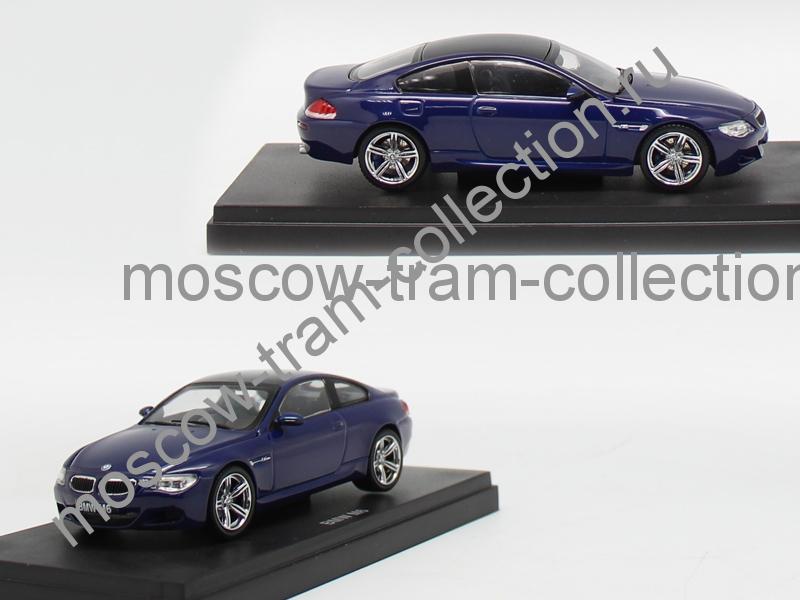 Коллекционная масштабная модель 1:43 BMW M6 blue