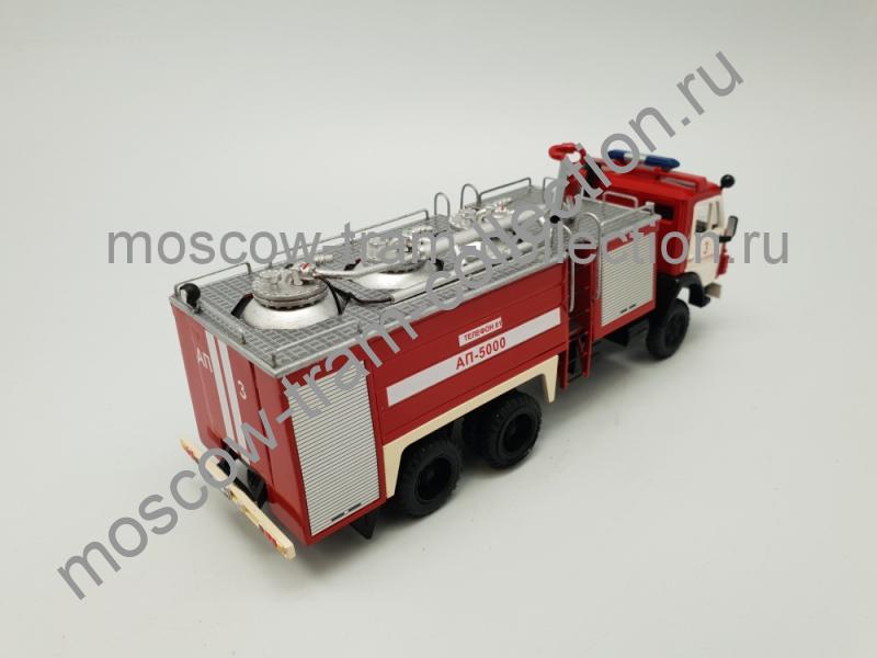 Коллекционная масштабная модель 1:43 КамАЗ-53213 автомобиль порошкового тушения АП-5000 1:43