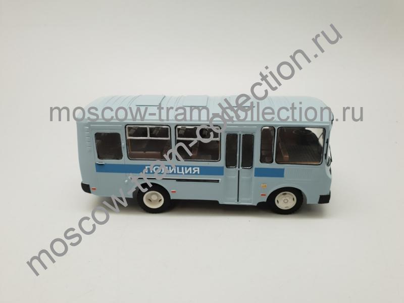 Коллекционная масштабная модель 1:43 ПАЗ 32051 рестайлинг Полиция