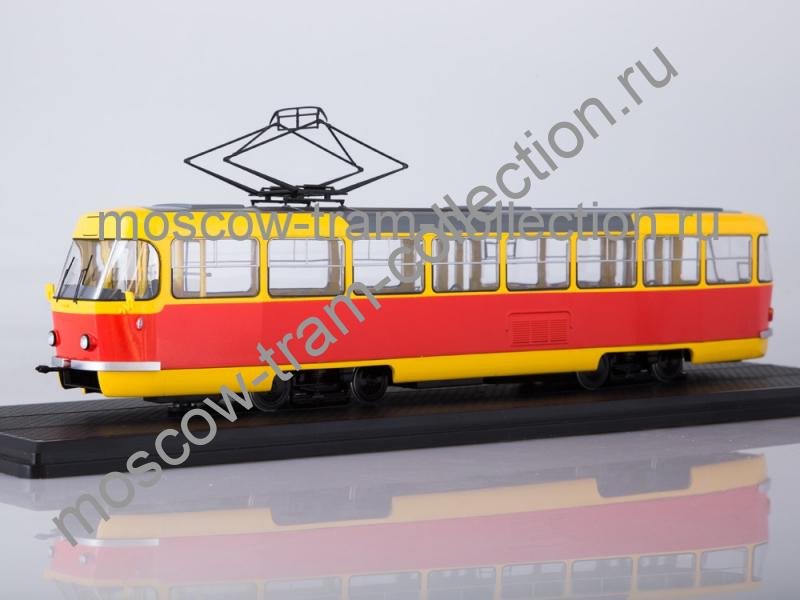 Коллекционная масштабная модель 1:43 Трамвай Tatra-T3SU