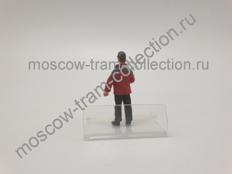 Коллекционная масштабная модель 1:43 Фигурка курьер арт009