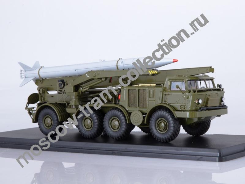 Коллекционная масштабная модель 1:43 ЛУНА-М 9П113 с ракетой 9M21 на шасси ЗИЛ-135ЛМ