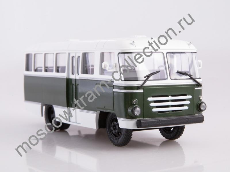Коллекционная масштабная модель 1:43 Автобус КАГ-3 (бело-зелёный)