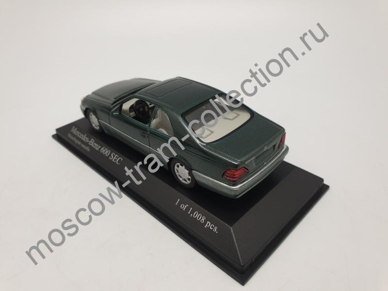 Коллекционная масштабная модель 1:43 Mercedes-Benz 600 SEC coupe (W140) 1992