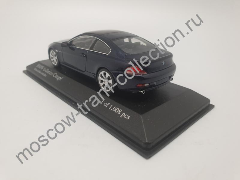 Коллекционная масштабная модель 1:43 BMW 6-Series Coupe2006 blue