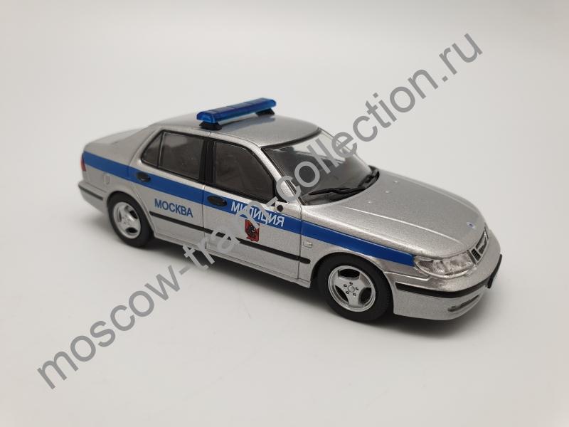 Коллекционная масштабная модель 1:43 Выпуск №048 Saab 9-5 Милиция Москва