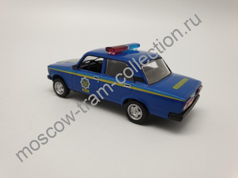 Коллекционная масштабная модель 1:43 Выпуск №029 ВАЗ-2107 (Милиция Украины)