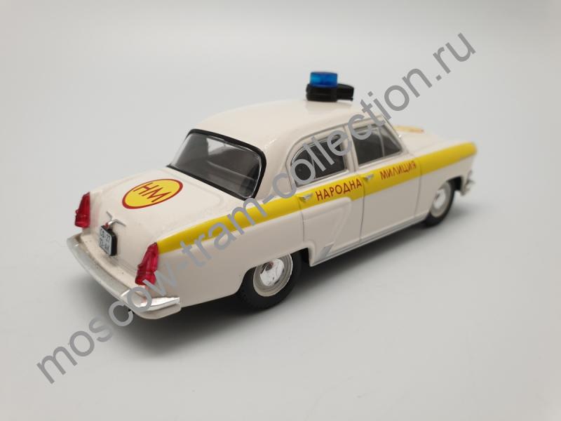 Коллекционная масштабная модель 1:43 Выпуск №037 ГАЗ-21 - Волга (Народная милиция Болгарии)