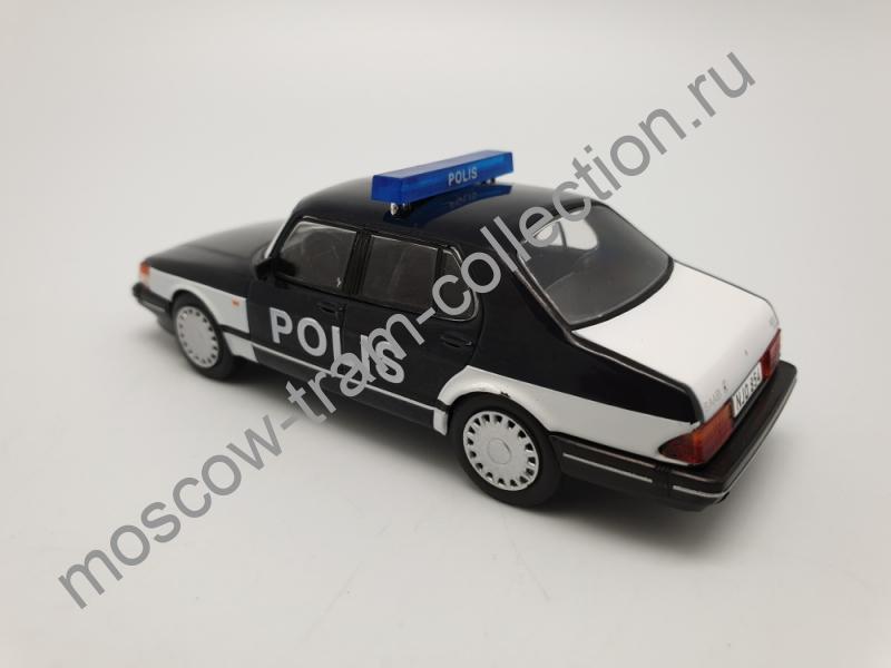 Коллекционная масштабная модель 1:43 Выпуск №072 SAAB 900 turbo Полиция Финляндии