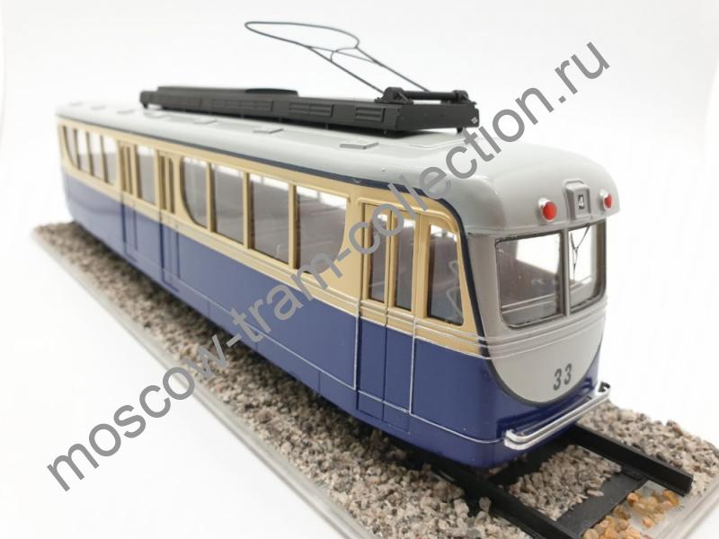Коллекционная масштабная модель 1:43 Трамвай М-36 Вагон 33 1936 г. лимит