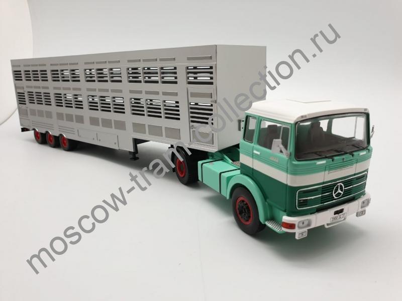 Коллекционная масштабная модель 1:43 Mercedes-Benz LPS 1632-Livestock transporter 1970г.