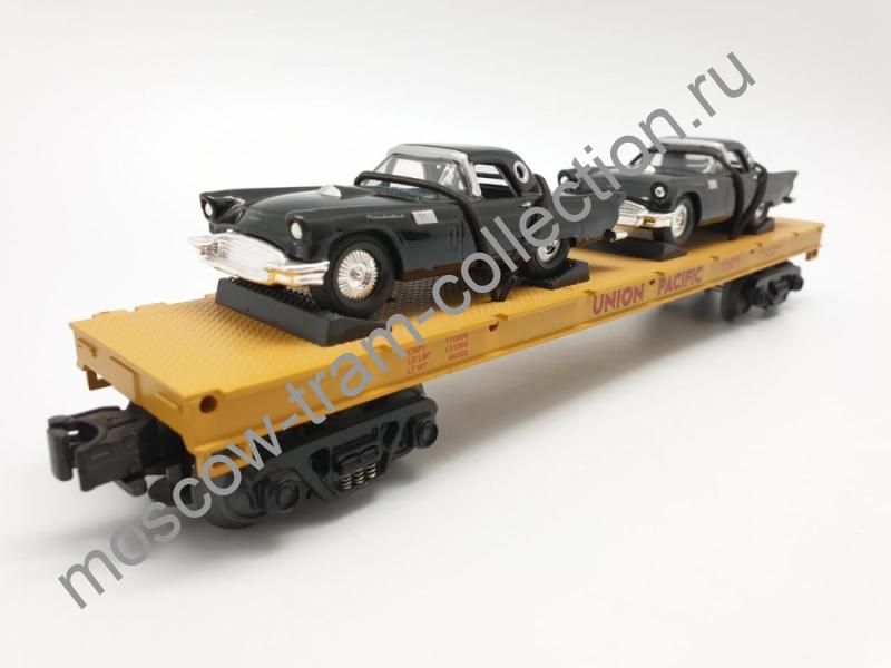 Коллекционная масштабная модель 1:43 Грузовой вагон,с машинами
