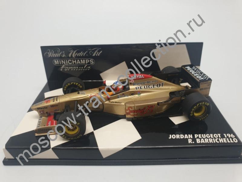 Коллекционная масштабная модель 1:43 Jordan Peugeot 196 R. Barrichello