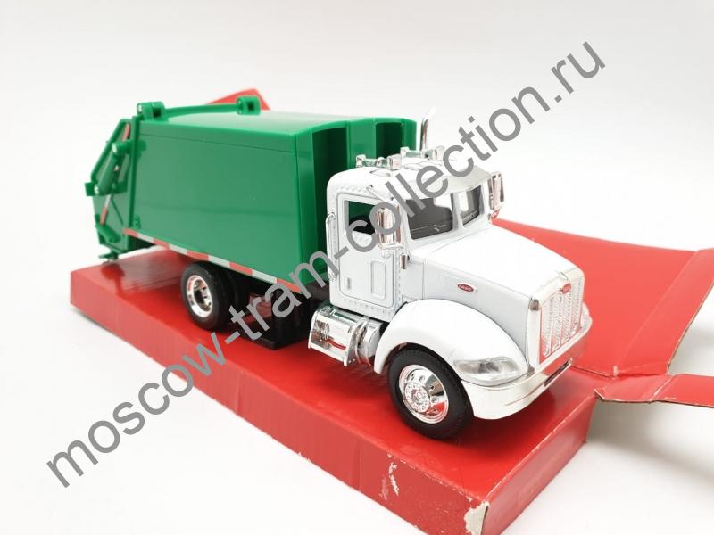 """Коллекционная масштабная модель 1:43 Peterbilt 335 Garbage Truck """"Мусоровоз"""""""