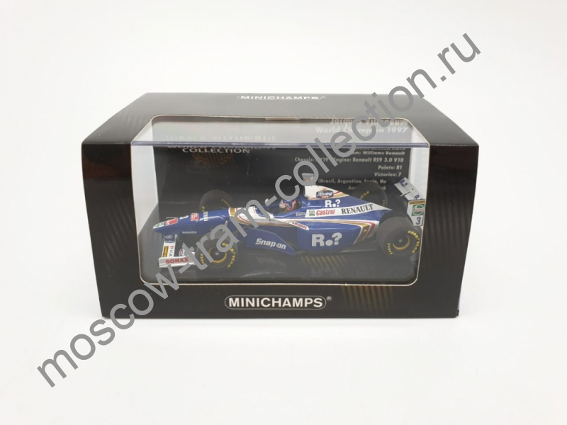 Коллекционная масштабная модель 1:43 Williams Renault FW 19 No.3 Jacques Villeneuve Formel 1 1997