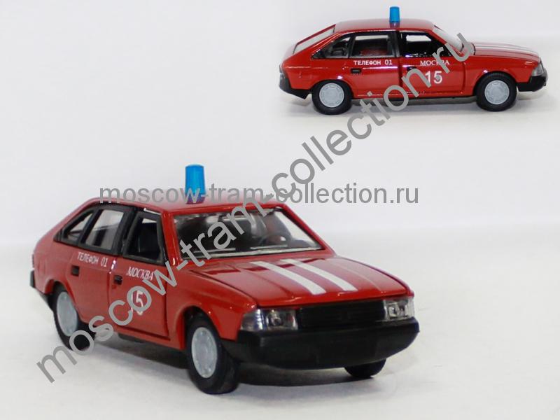 Масштабная коллекционная модель Москвич 2141 пожарная