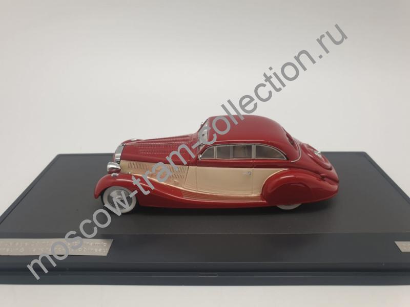 Коллекционная масштабная модель 1:43 DELAGE D8 105S Aerodynamic Coupe (1935), maroon / white