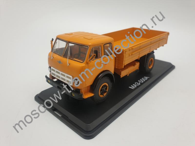 Коллекционная масштабная модель 1:43 МАЗ-500А бортовой (оранжевый)