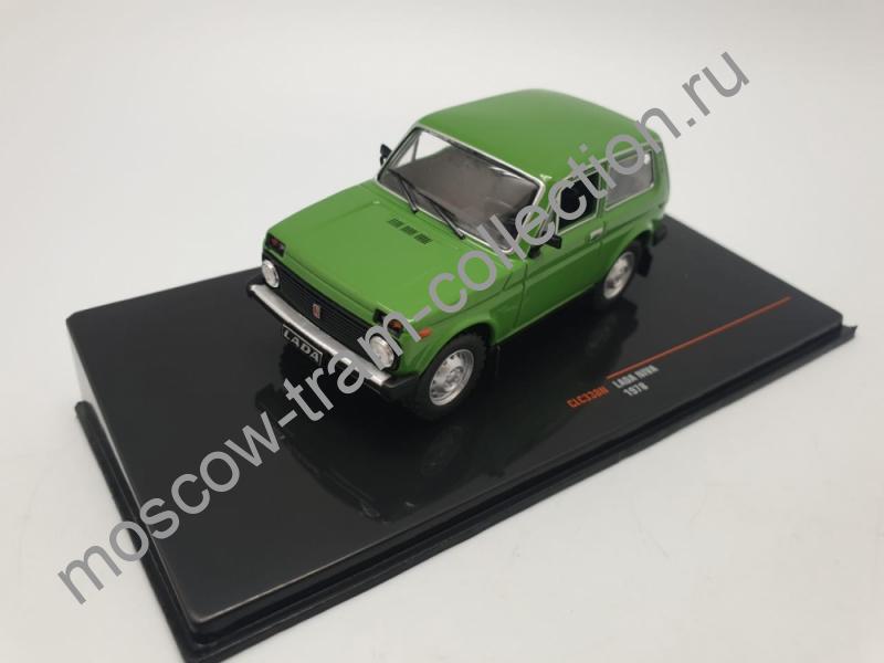 Коллекционная масштабная модель 1:43 ВАЗ-2121 Нива Lada Niva 1978 зеленый